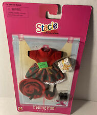 Barbie Stacie FEELING FUN FASHIONS Holiday Dress Purse Hat Shoes 1997 Outfit NIP