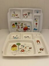 1980s Anacapa Melamine Divided Children's Plates - 2 - See Photos, Some Wear