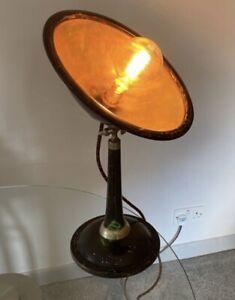 1920s Desk Lamp 1930s Antique Adjustable Black Enamel Table Light French Vintage
