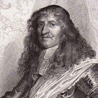 Portrait XIXe Jacques D'Estampes La Ferté Imbault Maréchal Campagne Piémont