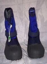 Columbia Powderbug Plus Ii Boys' Waterproof Winter Boots Blue Size 7 Nib