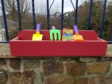 Childrens Hand Made Wooden flower trough with free gardening kit and seeds