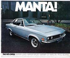 Opel Ascona Manta GT 1973 USA Market Sales Brochure 1900 Sedan Wagon
