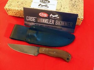 Case XX™ Winkler Walnut Wood Fixed Blade Skinner 80CrV2 Carbon Steel knife