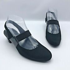 Munro American 4853 Women Black Slingback Mary Jane Shoe Size 7M Pre Owned