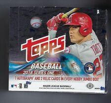 2018 TOPPS SERIES 1 BASEBALL FACTORY SEALED JUMBO HTA BOX & 2 SILVER PACK