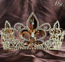 Renaissance Tiara Diadem Gold King Crown Headband Pageant Prom Party Costumes