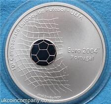 2001 Portugal campeonato europeo de fútbol 2004 moneda de plata prueba 1000 Escudos