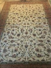 6.8 X 10'  Fine Silk & Wool Rug -Hand Knotted - with Appraisal!