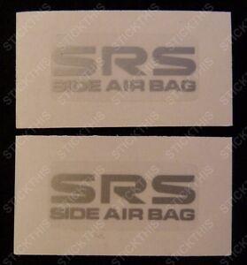 Holden HSV VT VX VY VZ GTS Senator SS - SRS Side Air Bag Decals/Stickers PAIR x2