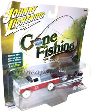 JOHNNY LIGHTNING GONE FISHING JLBT002 1959 FORD F 250 TRUCK with BOAT 1/64 CHASE