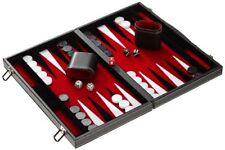 Backgammon Leder Midi Inlett rot Philos 1730