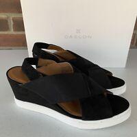New Caslon black suede wedge platform sandals Women's Size US 8 M