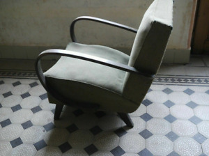 Handmade Gorgeous Antique rocking chair with cow hide kitchen
