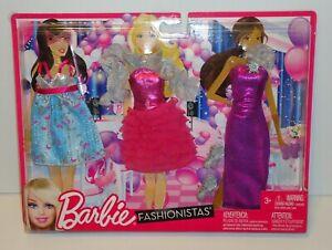 Barbie FASHIONISTAS CLOSET Fashions 3 Pack 2011 Mattel