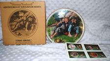 """Tom Sawyer Series Norman Rockwell Plate """"First-Smoke""""~ 1977 Adventures"""