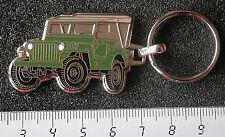 Willys Jeep Schlüsselanhänger grün emailliert - Maße Fahrzeug 44x29mm