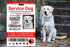 USA Service Dog ID Card, ADA Service Dog Identification Card, Service Dog Card