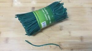 Nose wires for Home Made face masks, flexible twist and tie, Green Color.