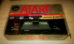 AMAZING VINTAGE ATARI 2600 PAL BLACK CONSOLE & 2 GAMES BOXED