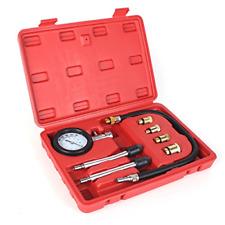 8PCS Professional Tester Test Kit Cylinder Compression Gas Engine Set Automot...