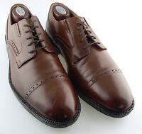 206616  PF50 Men's Shoes Size 9 M Dark Tan Leather Slip On Johnston & Murphy