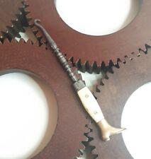 Crochet tire-botte bottine tire-lacets 19e en os 19th Century Boot Button Hook