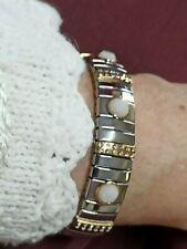 Bracelet Swarovski Silver Crystal White Wedding Formal Jewelry Bridal  Handmade
