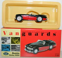 VANGUARDS 1/43 VA05102 AUSTIN HEALEY 3000 BLACK & RED