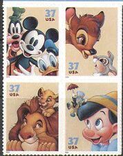 USA 2004 Disney/Mickey Mouse/BAMBI/Roi Lion/Lapin/chien/chat 4 V S/Un Noir (n16031)