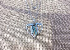 1 Ovarian Cancer Awareness Teal Ribbon or a Choice of Color Necklace Pendant NEW