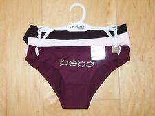 1035d26e0ff1 3 Pair bebe Intimates No Panty Lines Women's Low Rise Bikini Panties Size M