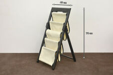 designer foldable magazine newspaper rack stand - 4 compartments - FREE DELIVERY