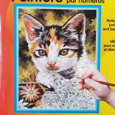 Lefranc & Bourgeois Color & Co Paint By Numbers Kit Kittens Cat Field Flowers