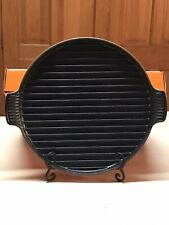 Le Creuset Orange Round Cast Iron Bistro Grill Pizza Plate Pan # 32 12.5�