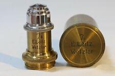 Antique Brass Leitz No. 7b Microscope Objective