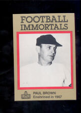 1985 Immortals PAUL BROWN Cleveland Browns Hall of Fame Card