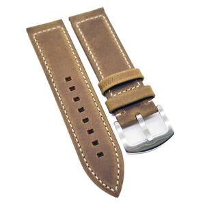 23mm Cider Orange Calf Leather Watch Strap For Zenith Pilot Type 20