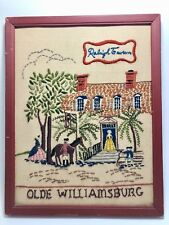 Antique Embroidery Stitching Raleigh Tavern Olde Williamsburg Va.