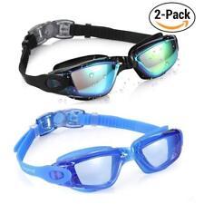 2 Pack of Swimming Goggles No Leaking Anti Fog UV Protection Triathlon AU q