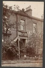 Postcard Settle nr Stainforth in North Yorkshire house in The Terrace 1913 RP