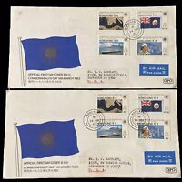 Hong Kong 1983 GPO Commonwealth Day Airmail 2x Set Of 4 Stamps On Official FDC