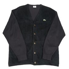 Vintage LACOSTE Pigskin Jacket | Retro Leather Suede Pig Skin Cardigan Button