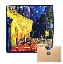 "LARGE[4 Pack](""Café Terrace at Night"") - ULTRA PREMIUM QUALITY Microfiber Cloths"