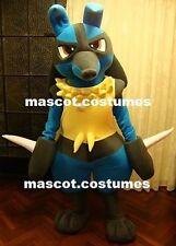"New Lucario Pokemon Mascot Costume Professional Character 5' 9"""