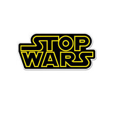 "Stop Wars Star Wars Spoof Vinyl Car Sticker Decal 6"" x 3"""
