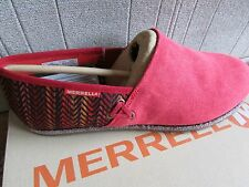 NEW MERRELL OLEANDER RED SLIP ON LOAFER SHOES WOMENS 9  J57666  FREE SHIP!