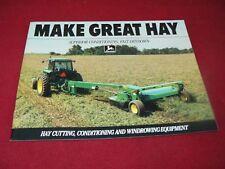 John Deere Hay Cutting Conditioning Windrow Equipment Dealer's Brochure DKA12