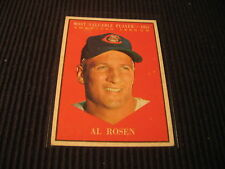 1961 TOPPS #474 AL ROSEN SP HIGH SERIES CARD VG-EX
