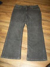 Womens Coldwater Creek Gray Shape Me Straight Leg Jeans Size 14 Petite 14P